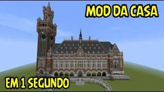 MOD DE COSTRUIR CASA EM 1 SEGUNDO - Minecraft Pocket Edition 0.14.0