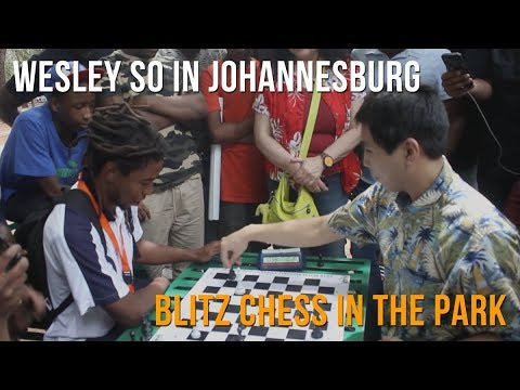 Wesley So playing blitz in Johannesburg