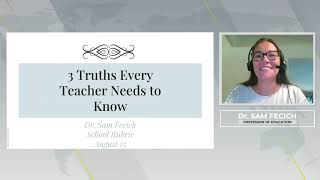 3 truths every new teacher needs to hear