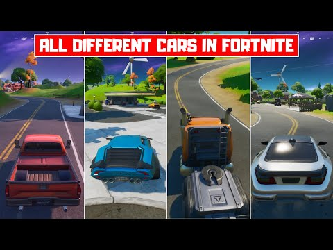 All Different Cars In Fortnite Chapter 2 Season 3 How To Drive