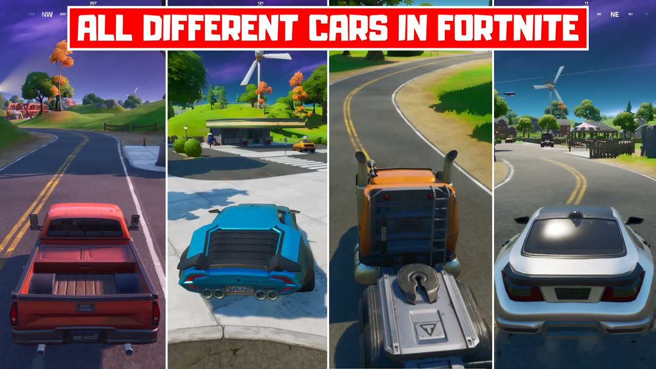 All Different Cars in Fortnite Chapter 2 Season 3! - How to Drive Cars in Fortnite