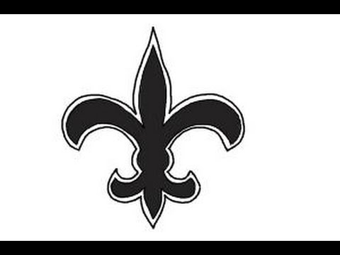 How To Draw Saints Logo New Orleans Saints Nfl Team Logo Youtube