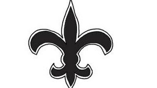 How to draw Saints Logo, New Orleans Saints, NFL team logo