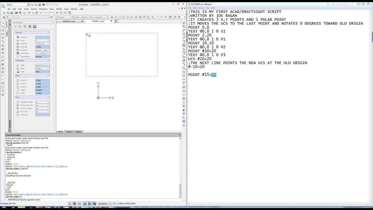 script acad draftsight