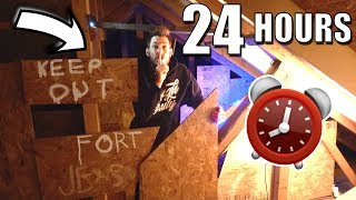 24 HOUR OVERNIGHT FORT IN THE ATTIC!