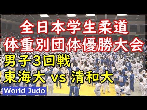 全日本学生柔道体重別団体 2019 3回戦 東海大 Vs 清和大 Judo