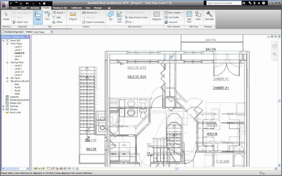Elegant Great Autodesk Revit Clip En Franais Importer Fichier Autocad  Partie With Lire Un Plan De Maison With Lire Un Plan De Maison