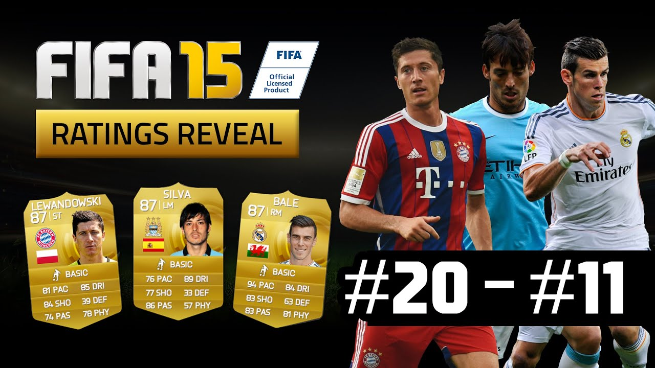 Fifa 15 top 50 player ratings countdown 20 11 youtube