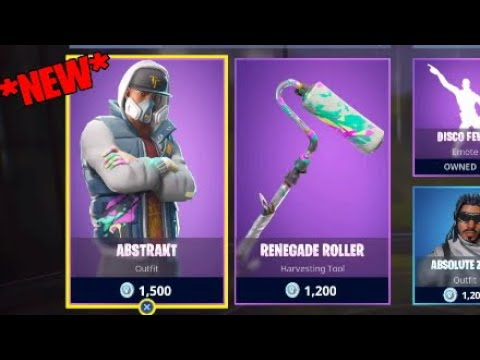 New Abstract Skin Rolller Pickaxe Fortnite Item Shop