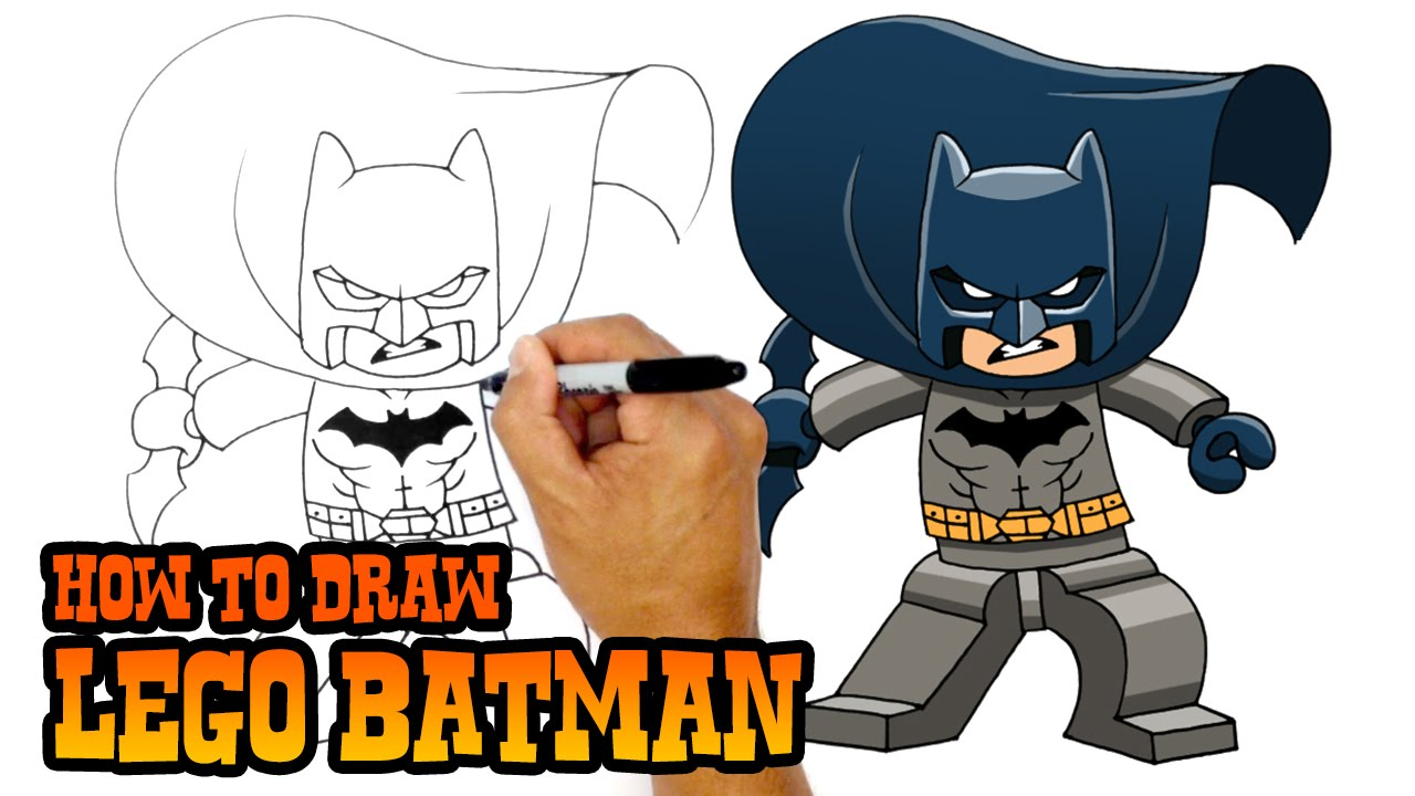How To Draw Lego Batman  Drawing Lesson