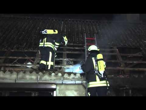 Wohnhaus brennt in Losse