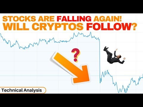 Stocks Are Falling Again, Will Cryptocurrencies Follow?