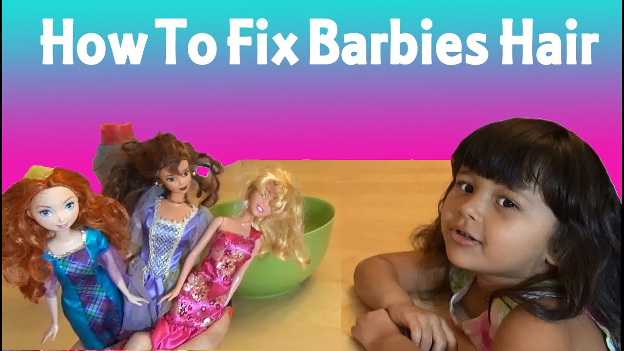 how to fix restore barbie doll hair youtube. Black Bedroom Furniture Sets. Home Design Ideas