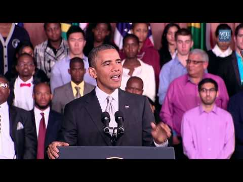 President Obama's Congo Moment as He Speaks at the University of Cape Town - June 30, 2013