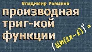 ПРОИЗВОДНЫЕ тригонометрических ФУНКЦИЙ тригонометрия