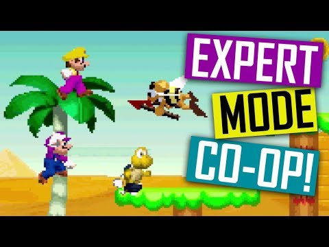 New Super Mario Land EXPERT Co-op Playthrough!