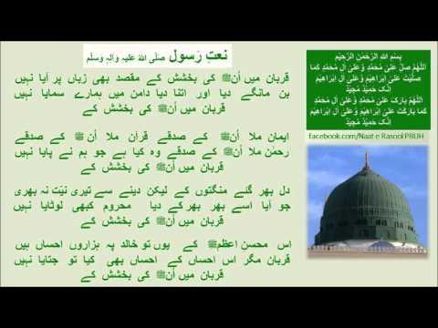 Qurban Main Unki Bakhshish Kayقربان میں اُنﷺ _Naat-Zulfiqar Ali-Urdu Lyrics