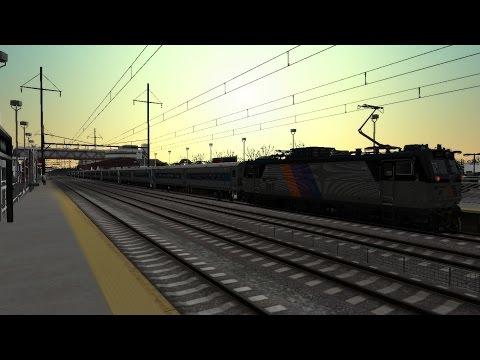 Train Simulator 2014 HD EXCLUSIVE: NJT ALP-44 Shoves 10 Car Metro-North Shoreliner Train (Mod WIP)  
