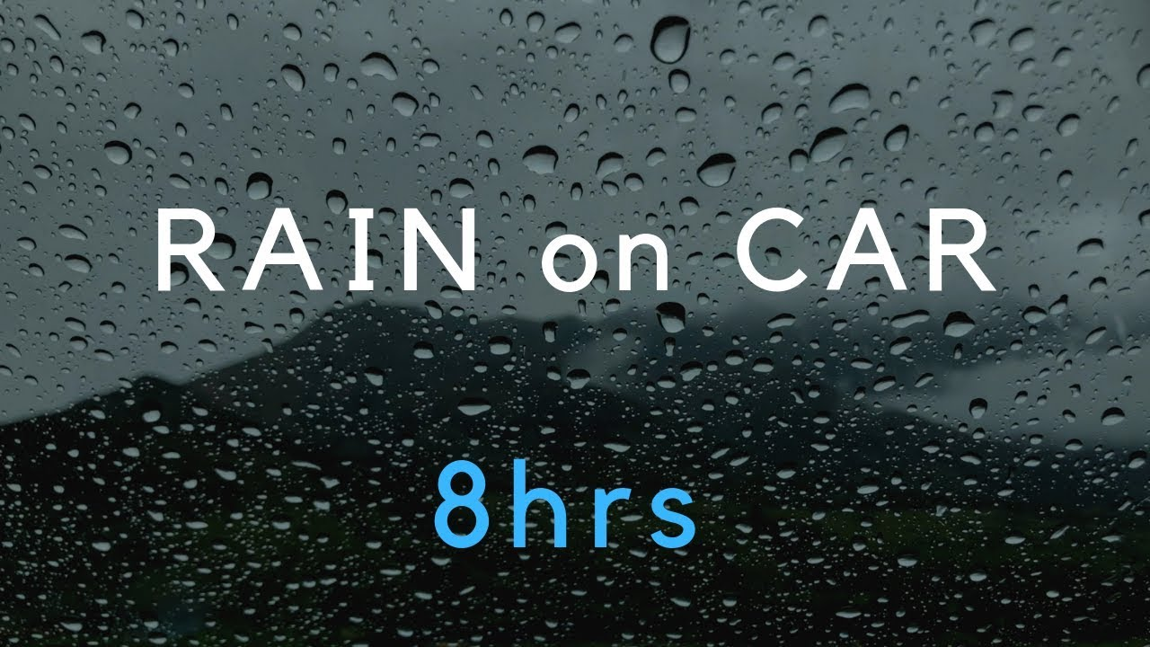 10 Hours Gentle Rain Sounds On Window Calm Rain Black Screen Rain For Sleep Study Youtube