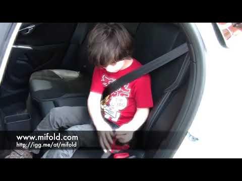 Складной бустер Mifold - установка за 30 секунд