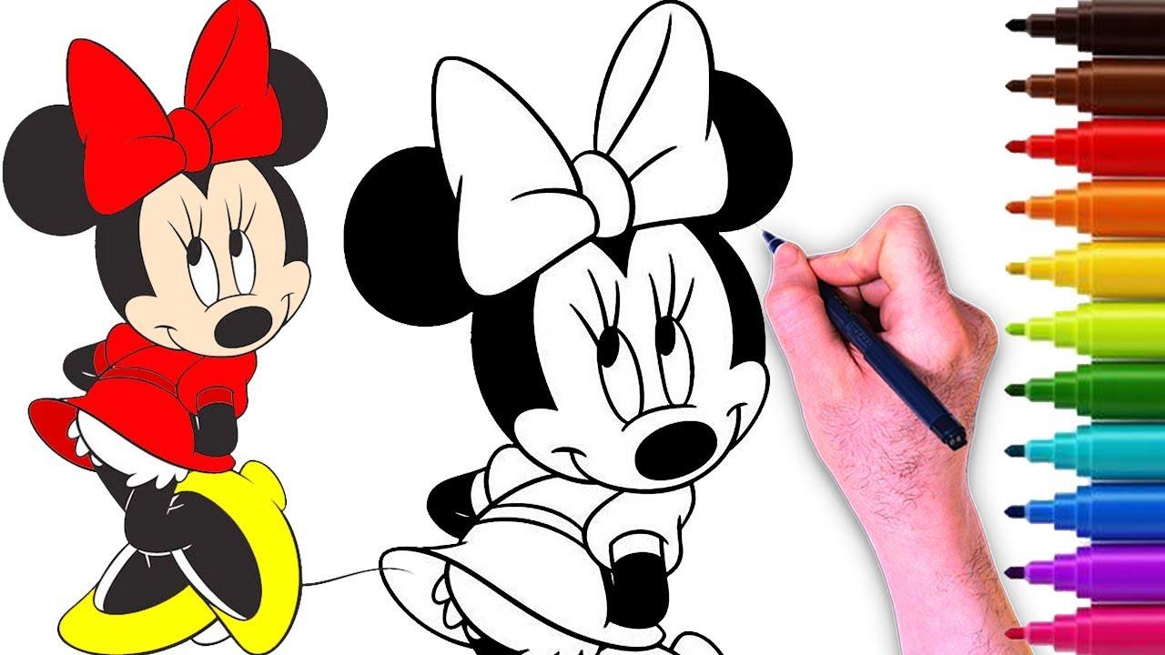 5 طريقة رسم ميني ماوس شخصيات 12
