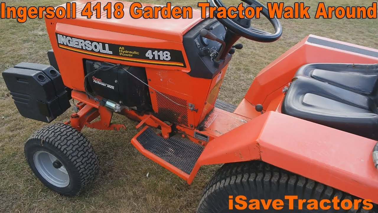 Case Ingersoll 4118 Garden Tractor Walk Around And