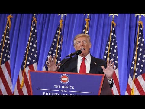 President-elect Trump is combative in news conference