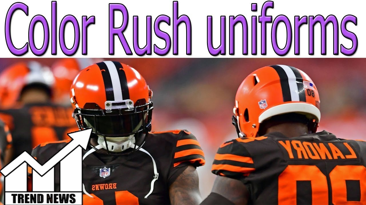 new product 2b70f 21af8 Cleveland Browns finally wear Color Rush uniforms they've waited years to  debut