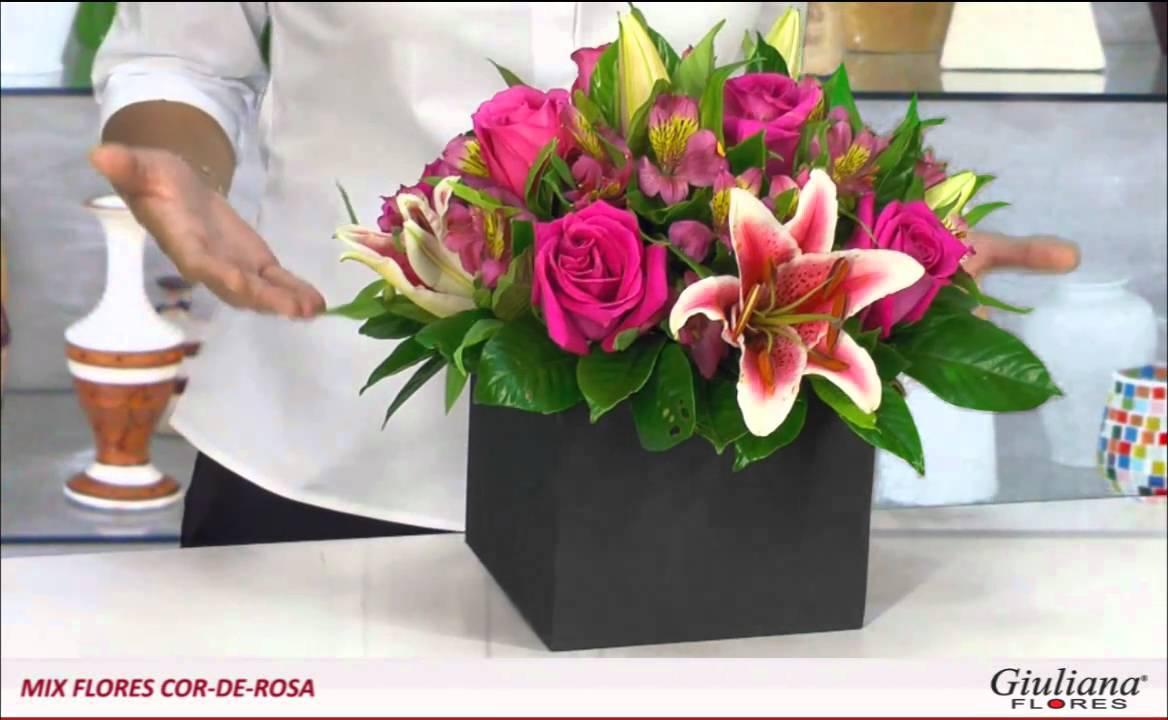 Uma Flor De Bom Dia: Mix Flores Cor-de-rosa