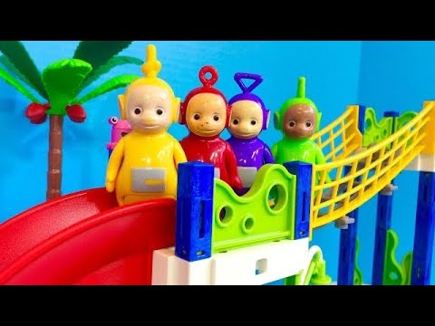 TELETUBBIES TOYS Waterpark Playmobil Set with Real Water!