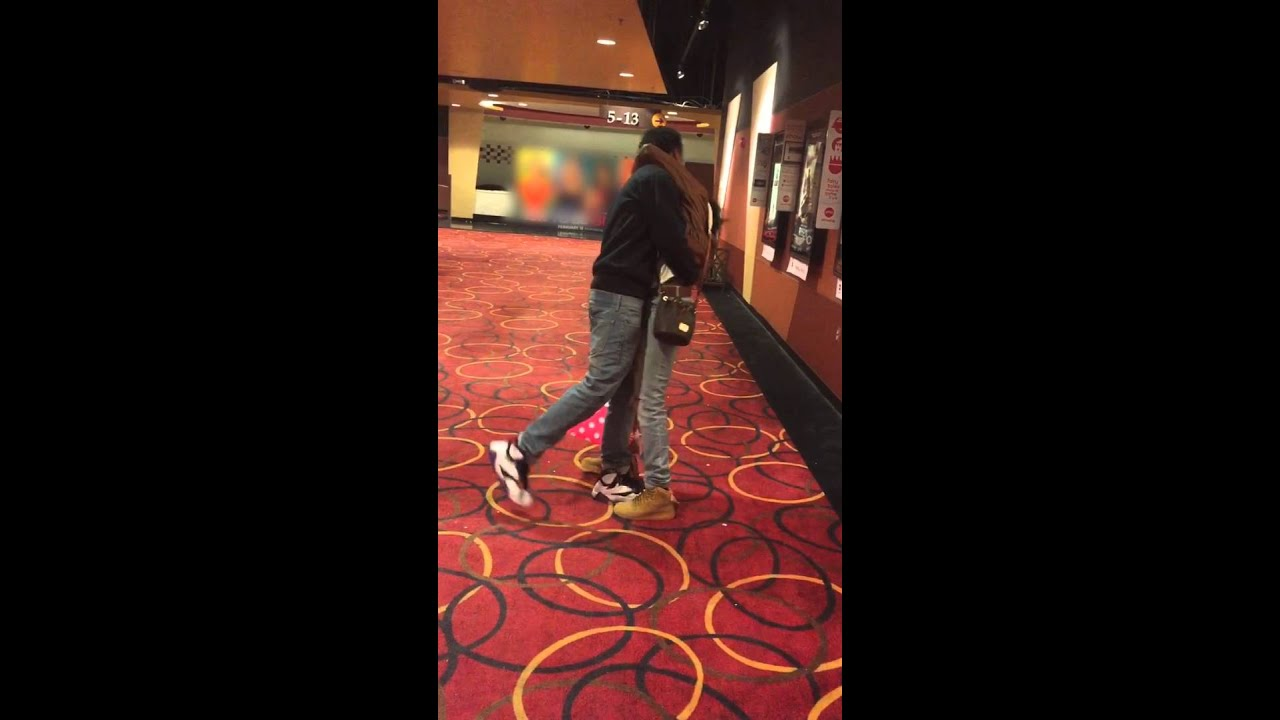 Couple Falls Into Wall At Movie Theater Youtube