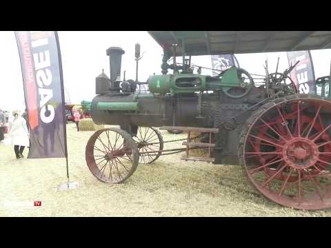 antique CASE 1876 STEAM TRACTION ENGINE walk around