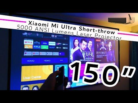 "THAT'S A BIG SCREEN! Xiaomi Mi Ultra Short-throw 150"" Laser Projector | USA Review"