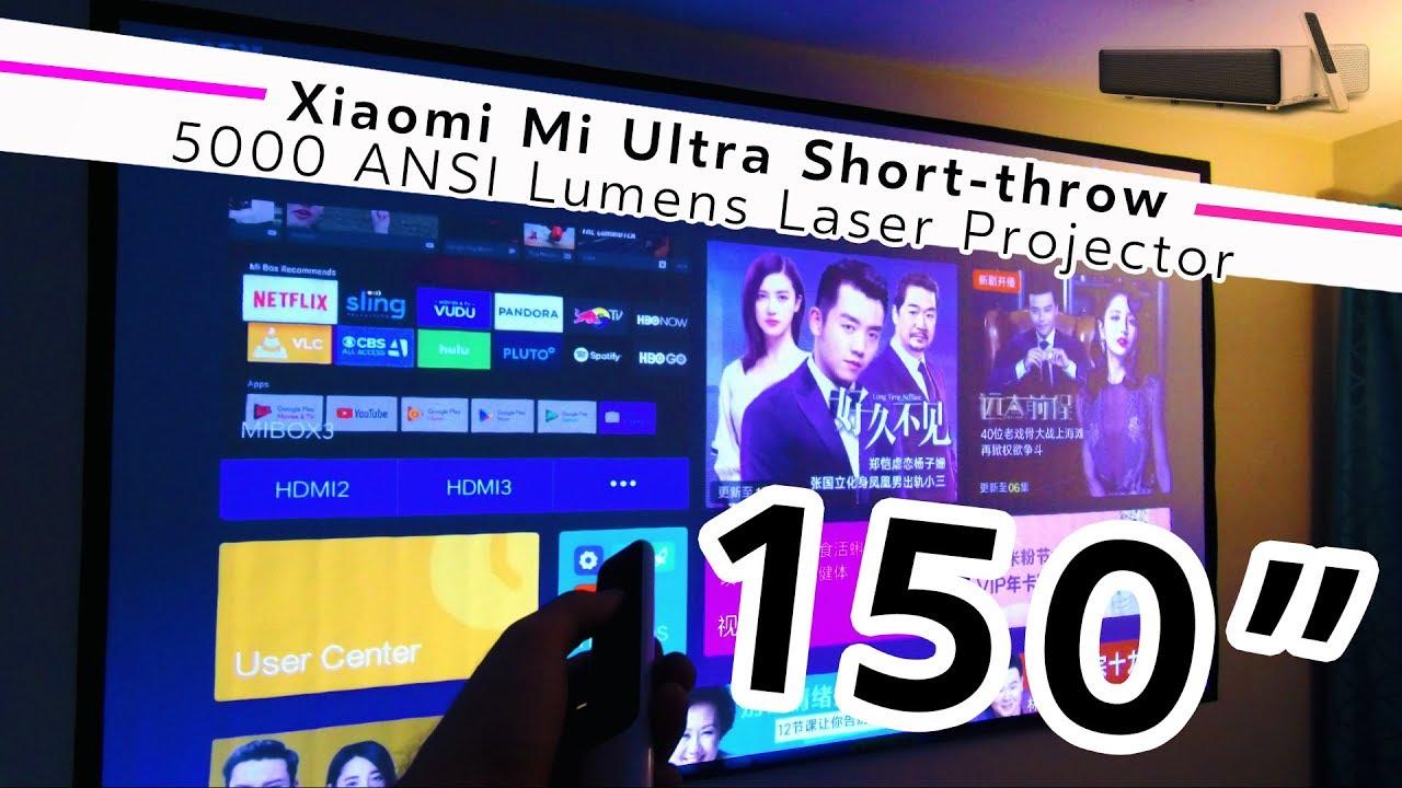 THAT'S A BIG SCREEN! Xiaomi Mi Ultra Short-throw 150