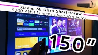 "THAT'S A BIG SCREEN! Xiaomi Mi Ultra Short-throw 150"" Laser Projector 
