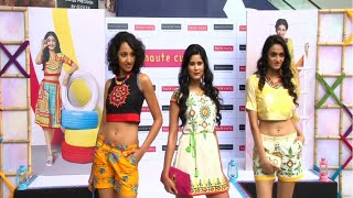 Beautiful Indian college girls walk the ramp at Haute Curry