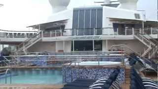 Круизный лайнер  Celebrity Eclipse (Верхняя палуба)