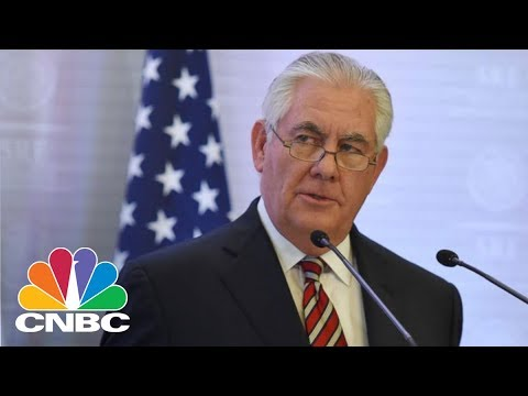 LIVE: Outgoing Secretary Of State Rex Tillerson Briefs Media After White House Firing | CNBC