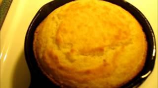 Crispy Southern  Buttermilk Cornbread From An Iron Skillet - Cast Iron Skillet Cornbread Recipe