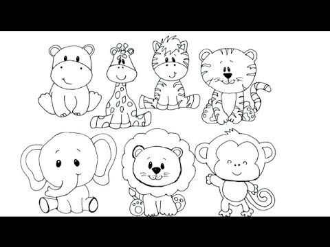 Draw cute little animals/animals drawing/how to draw animals/easy drawing/drawing/draw easy animals