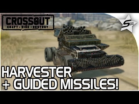 """EPIC GUIDED MISSILE + HARVESTER BUILDS!! - """"AMAZING CLOSE + FAR RANGE!"""" - Crossout Beta NEW Gameplay"""