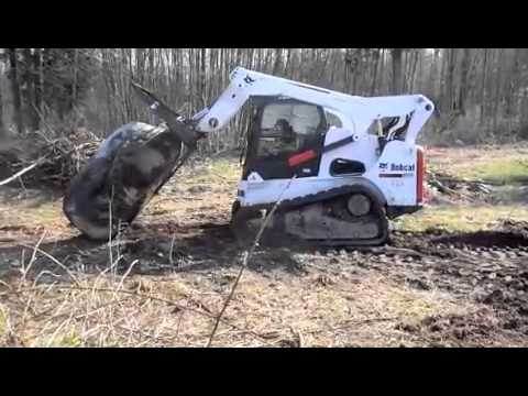 Show Me A Picture Of A Bobcat >> Bobcat moving a Big rock! - YouTube