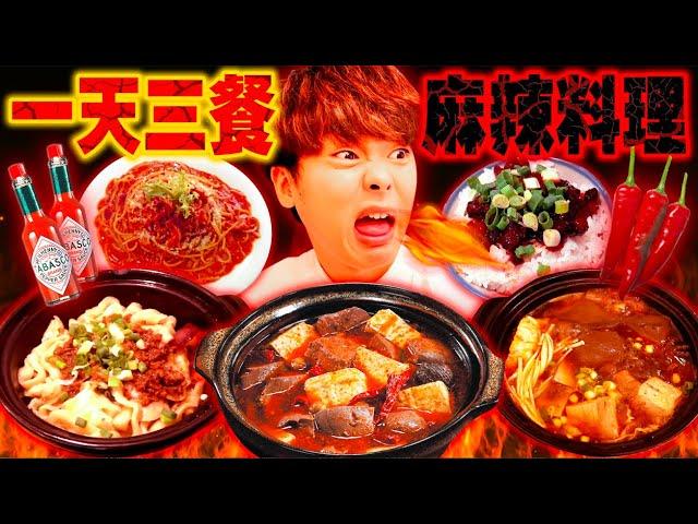 日本人挑戰一天三餐只吃麻辣料理生活!吃了20分內完食就免費的超辣美食下場屁屁被辣到不行.... ft. @一棵樹的一樹