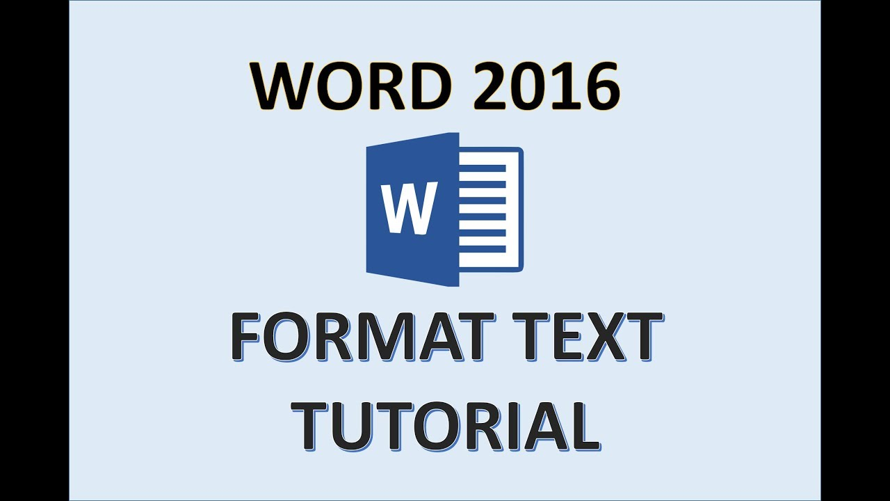 word 2016 - format text