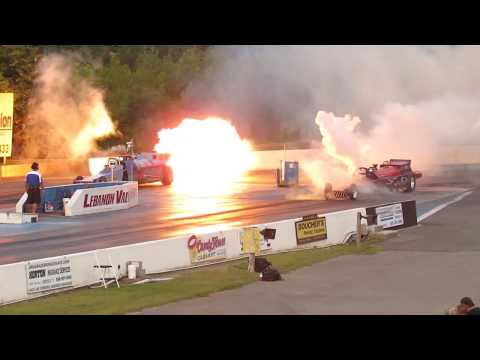 Jet Trains Chattanooga Choo Choo and Cannonball Express 2017 Night Of Fire at Lebanon Valley Dragway