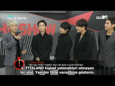 131224 FTISLAND SBS MTV The Show Interview Türkçe Altyazılı