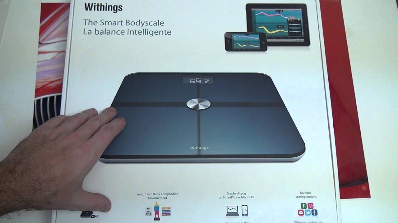 Withings WiFi Smart Body Scale Unboxing - YouTube