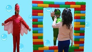 ELİF ÖYKÜ  SİHİRLİ AYNADAN GEÇTİ -  Kids Pretend Play With Colored Brick, Magic Miror Fun Video