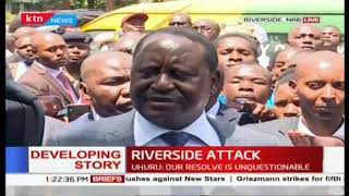 Those who have died are our heroes in our war against terrorism: ODM leader Raila at site of attack