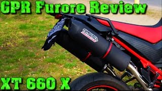 gpr furore review yamaha xt 660 x soundcheck flyby tuning exhaust